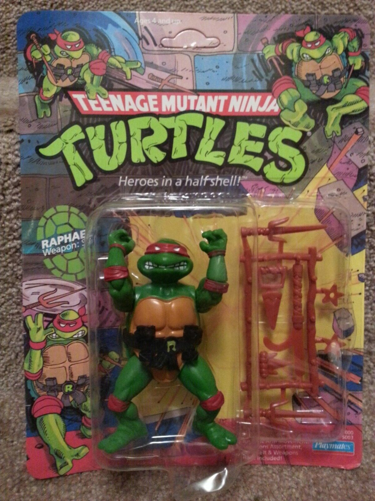 1988 ORIGINAL ** RAPH RAPHAEL 1*R ** TEENAGE MUTANT NINJA TURTLES TMNT