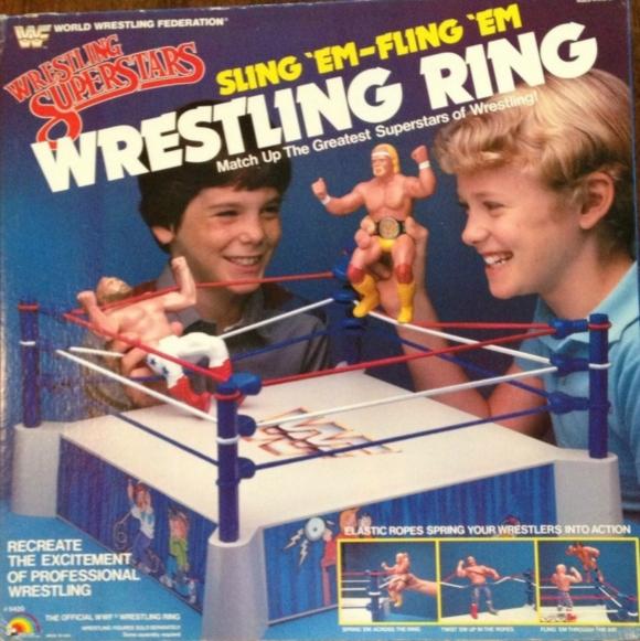 Wwf Sling Em Fling Em Wrestling Ring Ljn 1985 Super